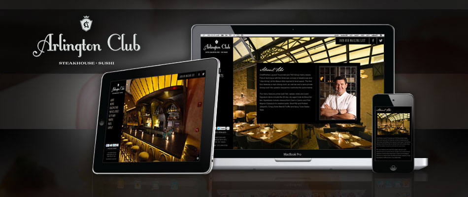 Arlington Club Web Design