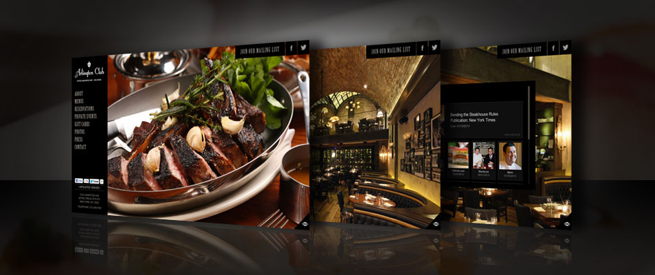 Arlington Club website by TVI Designs