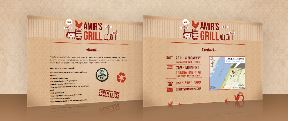 Amir's Grill Restaurant Web Site by TVI