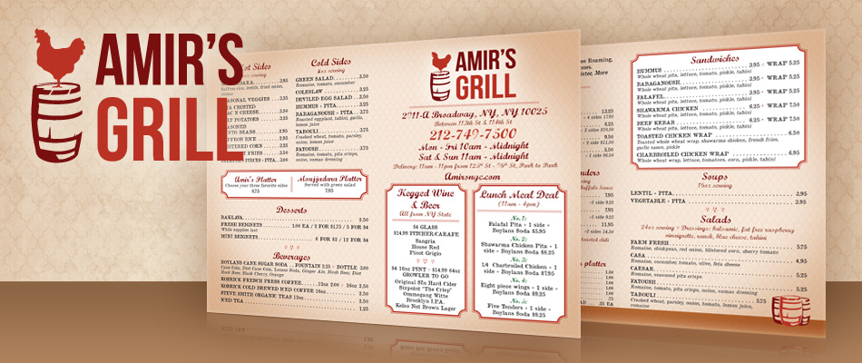 trendy restaurant menu designs