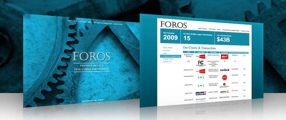 Foros Group website by TVI Designs
