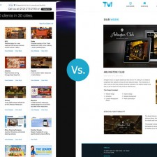 TVI Designs website by TVI Designs, Old vs. New