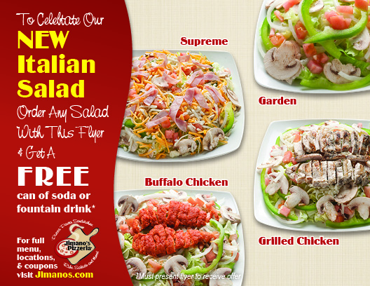 Jimano's Pizzeria Salad Flyer