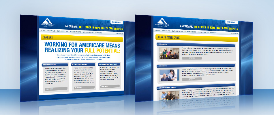 Americare Web site designed by TVI