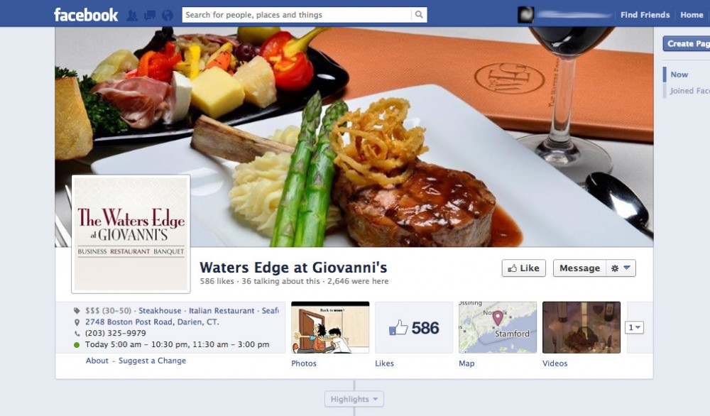 Waters Edge at Giovanni's Facebook made by TVI Designs