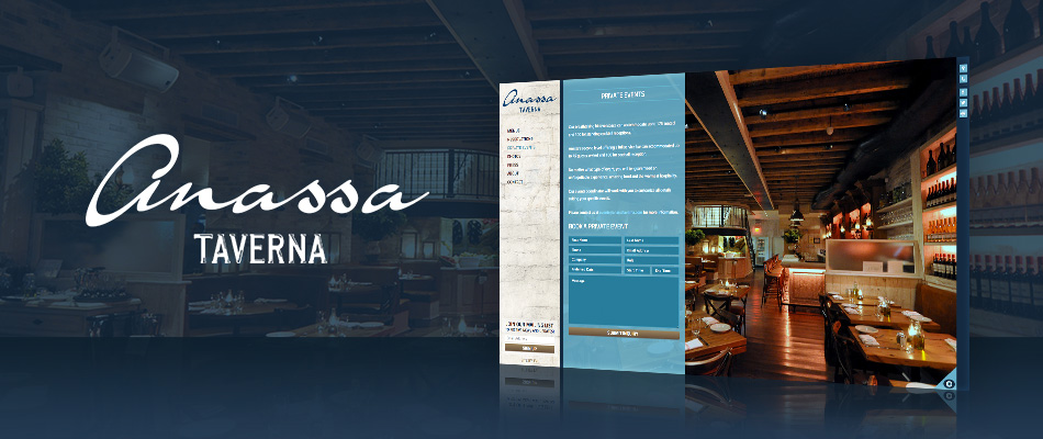 Anassa Taverna website by TVI Designs
