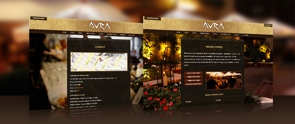 Avra website by TVI Designs