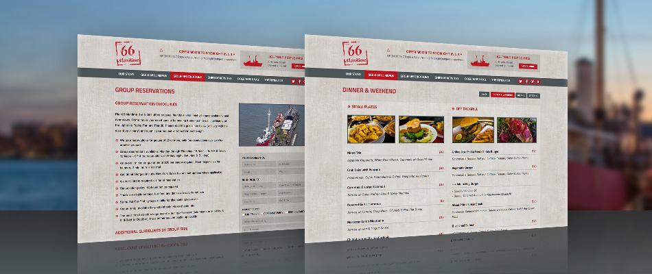Pier 66 Maritime website by TVI Designs