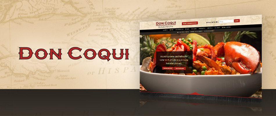 Don Coqui website by TVI Designs